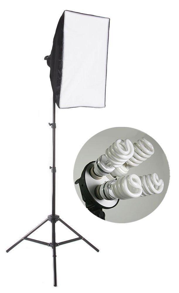 StudioFX 800 Watt Large Photography Softbox Continuous Photo Lighting Kit 16'' x 24'' by Kaezi H9004S-1