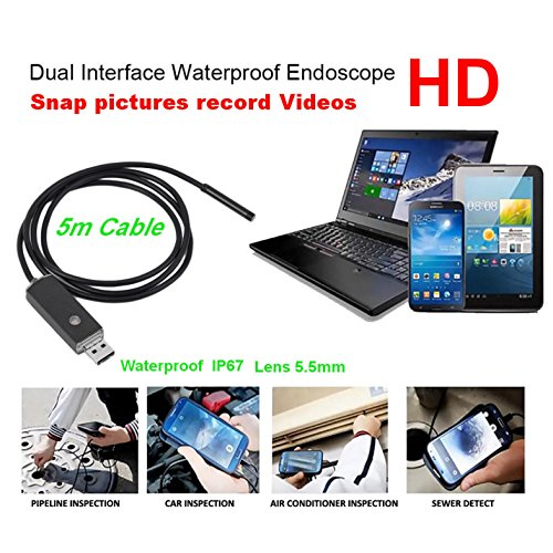 买和卖 Endoscope 2 in 1 USB inspection waterproof HD video/camera semi-rigid