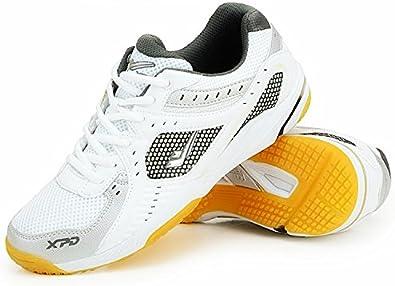 XPD Professional Sports Shoes - Zapatillas de Tenis de Mesa de Material Sintético para Hombre Blanco Blanco: Amazon.es: Zapatos y complementos