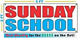SUNDAY SCHOOL All Weather Full Color Banner Sign