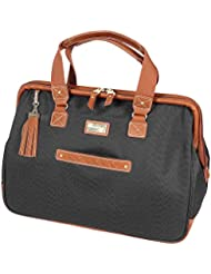 Steve Madden Luggage Global Wire Frame Satchel (Black)