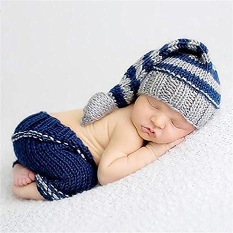 PEPEL Bebé recién Nacido fotografía Prop Ganchillo Raya Chico ...