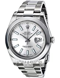 Datejust II Automatic Silver Dial Stainless Steel Mens Watch 116300SSO