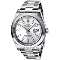 Rolex Datejust II Automatic Silver Dial Stainless Steel Mens Watch 116300SSO