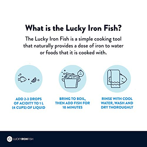 LUCKY IRON FISH Cooking Tool Adds Safe Iron To Food. Designed For Liquids And...