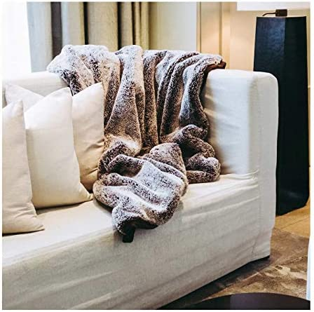 Mon Chateau Luxury Collection Faux Fur Throw (Mocha)