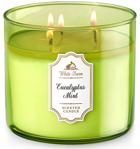 Bath & Body Works White Barn 3-Wick Candle in Eucalyptus Mint