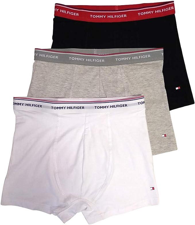 Tommy Hilfiger Boxers para Hombre Pack de 3 (Black, White, Grey ...