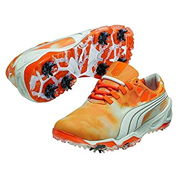 chaussure golf puma orange