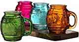 Best Circleware Glass Jars - Circleware Family Multi-colored Glass Drinking Glasses Set, 17.5 Review