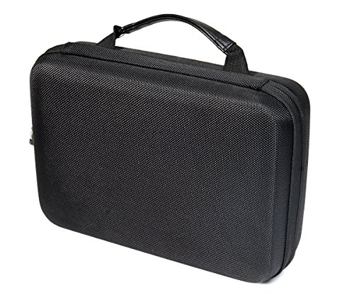 Professional Portable Recorder Case with DIY foam inlay for DR-05, DR-40, DR-22L, DR-100MKll, DR-1, Mini Tripod, Adapter, Mic Pop Windscreen, Smart accessory padding solution for SD cards, cabl by WGear (Image #1)