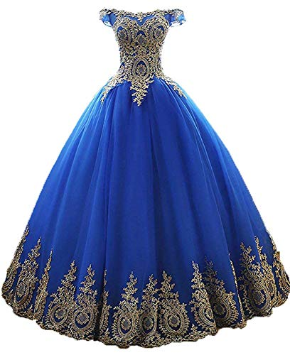 Bodice Taffeta Ball Gown - Bonnie Women's Beaded Lace Bodice Ball Gowns Long Puffy Prom Sweet 16 Quinceance Dresses BS027