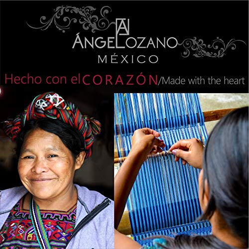 Amazon.com: Gold Maya model leather Bag with Artisan Embroidery. Original AngeLozano Brand. 4.33 x 12.99 x 11.42 inches: Handmade