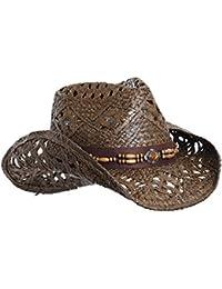 Straw Cowboy Hat W Vegan Leather Band   Beads 0e188b57c2e8