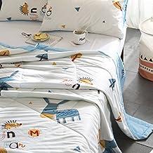 "J-pinno Cartoon Cute Donkey Quilt Comforter Throw Blanket Twin for Kids Bedding (Twin 59"" X 78"", 3)"