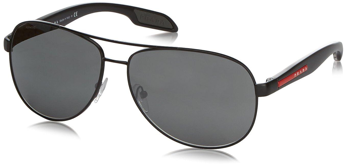 a739de7f56f Amazon.com  Prada Sport 53PS America s Cup Aviator Sunglasses  Prada Sport   Shoes