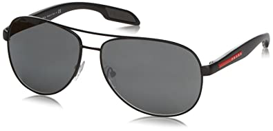 b8a69a920440 Image Unavailable. Image not available for. Color  Prada Sport 53PS  America s Cup Aviator Sunglasses