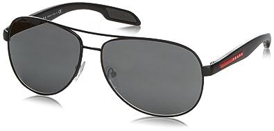 114db7dcade Amazon.com  Prada Sport 53PS America s Cup Aviator Sunglasses  Prada ...