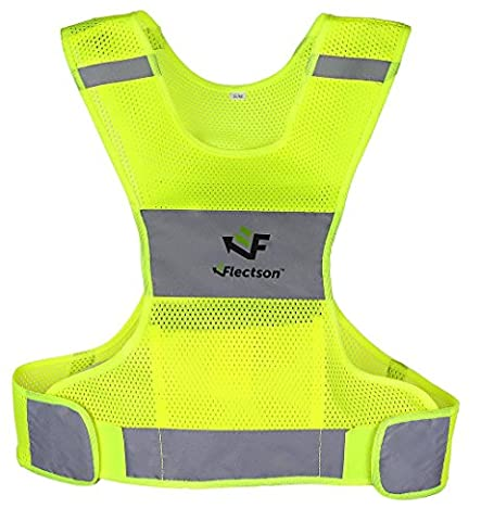 Reflective Vest for Running or Cycling (Women and Men, with Pocket, Gear for Jogging, Biking, Motorcycle, (Life Vests 5x)