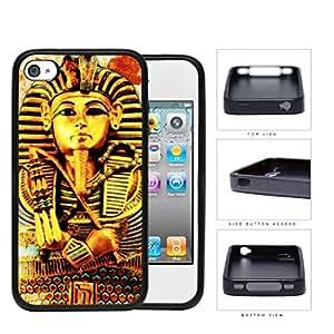 Ancient Egyptian Pharaoh King Tutankhamun Rubber Silicone TPU Cell Phone Case Apple iPhone 4 4s
