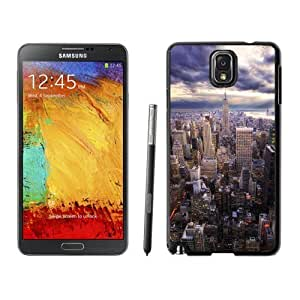 NEW Unique Custom Designed For Case Samsung Note 4 Cover Phone Case With HDR New York Skyline View_Black Phone Case