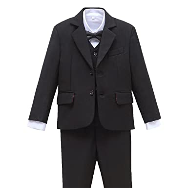 d2343ed6a Amazon.com  Yuanlu 5 Piece Boys  First Slim Fit Suits Kids Tuxedo ...
