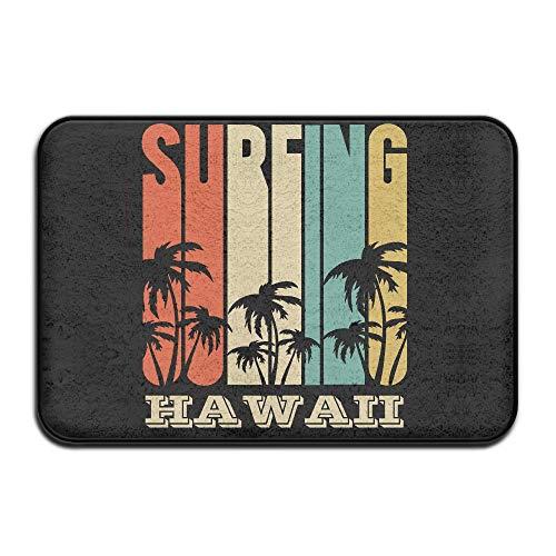 Inside & Outside Floor Door Mat Surfing Hawaii Design Pattern Hallways Foyers by Fuucc-6
