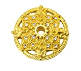 Carpe Diem Hardware 7628-8C Versailles Large Round Escutcheon with Swarovski Crystals, Gilded Mercury
