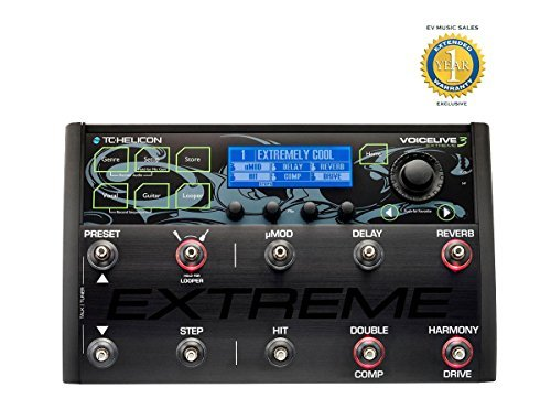 TC-Helicon VoiceLive 3 Extreme Vocal Effects Processor and Harmonizer with 1 Year Free Extended Warranty by TC-Helicon