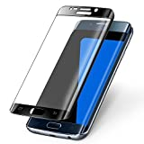 MuStone S7 Edge Tempered Glass Screen Protector, S7 Edge 3D Curved Tempered Glass Screen Protectors [Full Screen Coverage][Easy-Install][Bubble-Free] compatible for Galaxy S7 Edge (Black)