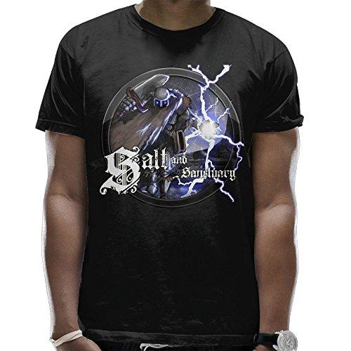 T-shirt Salt And Sanctuary Logo Men's Round Neck Fashion Casual Graphic Short Sleeve Tees Tops Black 3X