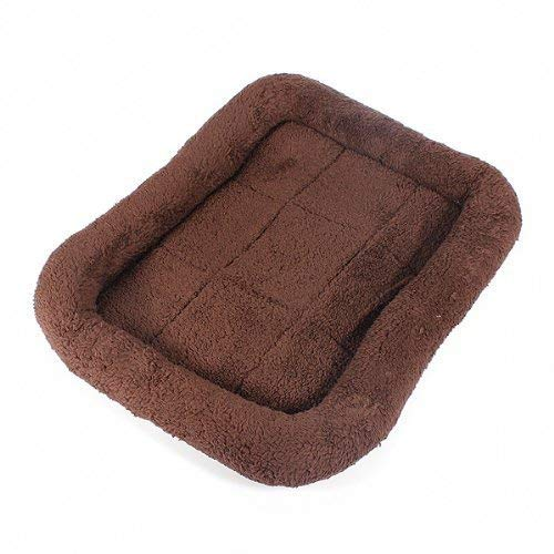 JINGB Pet Supplies Pet Bed Blanket Pet Dog Cat Nest Bed Mat Pad Blanket Warmer Pashm Cozy Coffee S 40  30  7cm