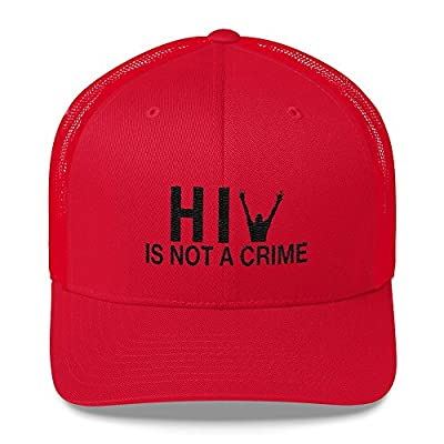 Today HIV is Not a Crime Embroidered Hat Baseball Cap - One Size Snap Back (Red)