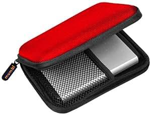 "Mumbi - Funda para disco duro externo 2.5"", color rojo"