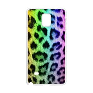 Samsung Galaxy Note 4 Cell Phone Case White Snow leopard unu
