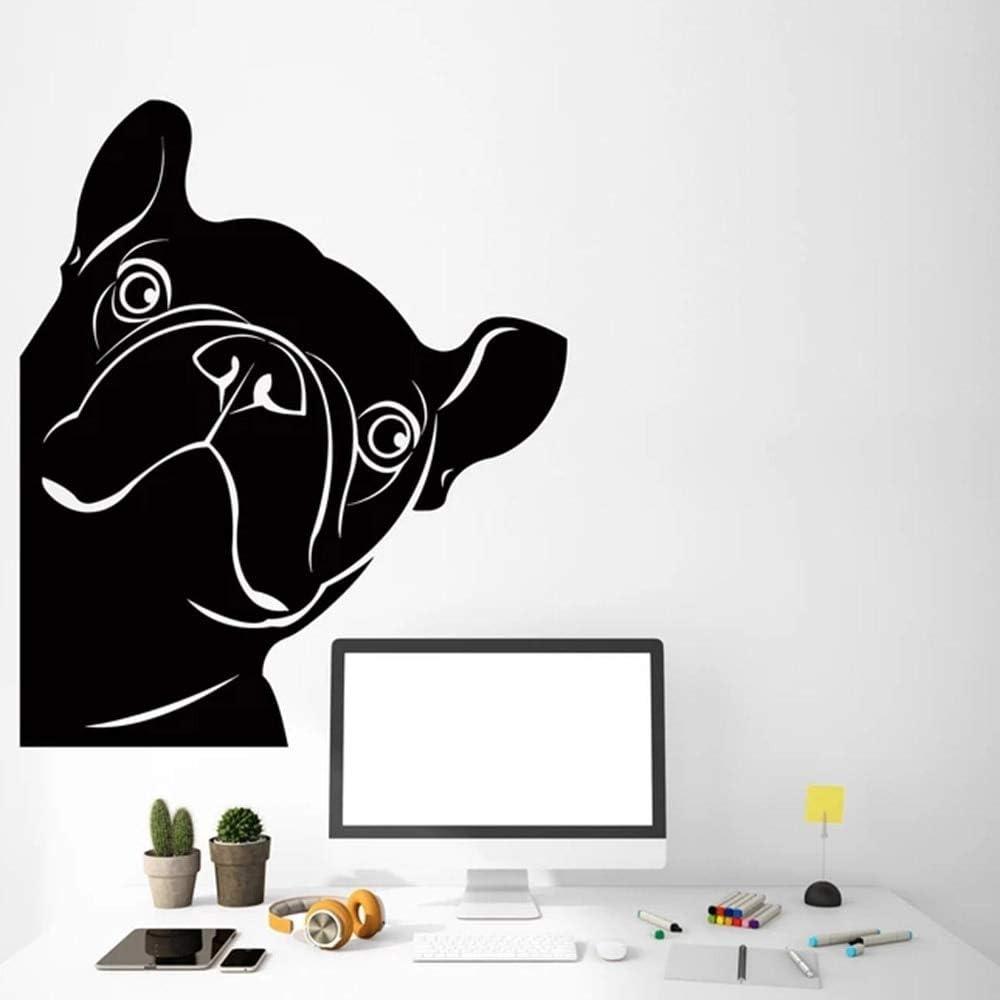 Geiqianjiumai Tienda de Mascotas Pegatina de Perro decoración de Perro francés decoración del hogar Sala de Estar extraíble 52.5X63 cm: Amazon.es: Hogar
