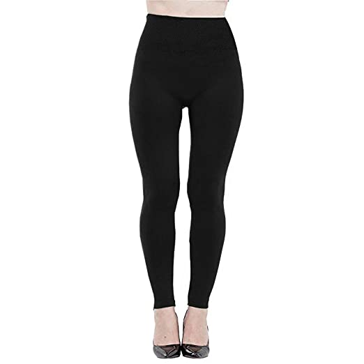 15d8037f6954e Zackate Womens Fleece Lined Leggings Solid Color Tummy Control Soft High  Waist Skinny Slimming Yoga Pants