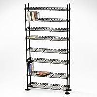 Maxsteel 8 Tier Steel Wire Shelving for 440 CD/228 DVD/264 BluRay/Games Media Black