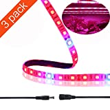 LED Grow Light Strip, Balleen.E 3 pack 1.6ft/strip Waterproof Flexible Soft Strip Plant Grow Light Bar for Aquarium Greenhouse Garden Hydroponic System Flower Shelving Lighting with Cleaning Cloth
