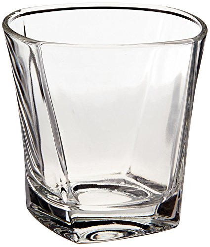 Cozumel Glass (Office Settings OSICPR9 Cozumel Fully Tempered Drinking Glasses, Prism Design, Flared Mouth, 9 oz)