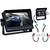Wireless Backup Camera Monitor Kit Camera for Car 7 inch with Rearview Camera 18 LED Night Vision for Buses, Trucks