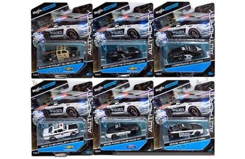 """New 1:64 MAISTO AUTHORITY COLLECTION - AUTHORITY 2016 ASSORTMENT """"A"""" Set of 6pcs Diecast Model Car By Maisto"""