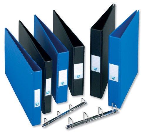 Emgee-Raccoglitore verticale in PVC colore: nero A3 570460 4 anelli a D capacit/à 40 mm confezione da 2