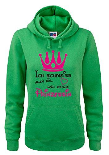 Shirt-Checker - Sudadera con capucha - para mujer Grün-Schwarz-Neonpink