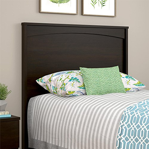 (Ameriwood Home Crescent Point Twin Size Headboard, Espresso)