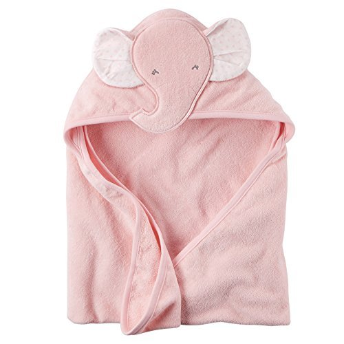 Baby Girl Elephant Hooded Towel (One Size, Pink) Carters Terry Hooded Towel