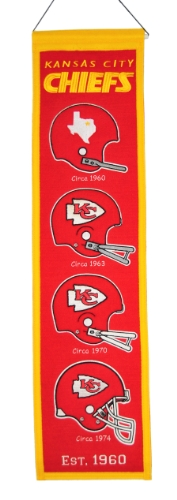 Nfl Kansas City Chiefs Heritage Banner