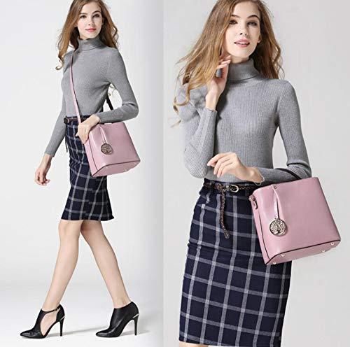 Unique bandoulière Sac à Oblique Baotou Sxuefang Femelle Fashion Sac Sac Main Couche Seau Cuir Vachette à A Sac nxCww0Yq5