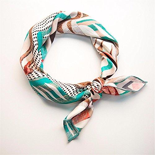 FLYRCX La nouvelle dame élégante avec foulard en coton doux et confortable de l'impression 53cmx53cm
