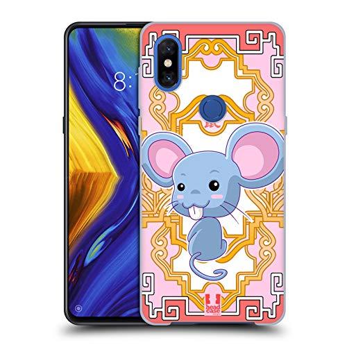 Head Case Designs Rat Zodiac Animals Hard Back Case Compatible for Xiaomi Mi Mix 3